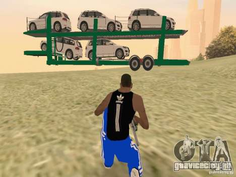 Car Transporter для GTA San Andreas вид справа