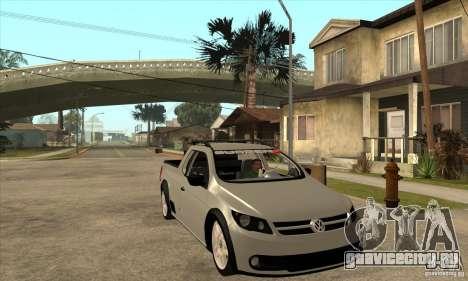 Volkswagen Saveiro G5 для GTA San Andreas вид сзади