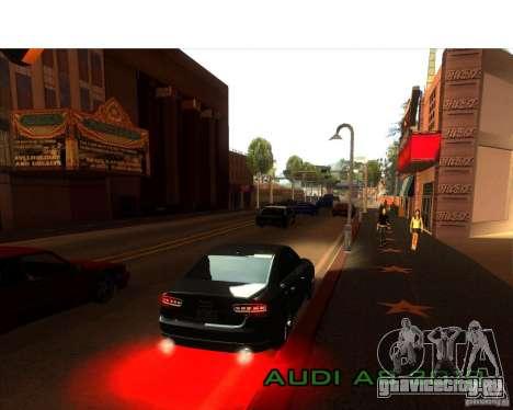 Audi A8 2010 для GTA San Andreas вид изнутри