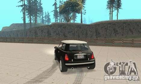 Mini Cooper Hardtop для GTA San Andreas вид слева