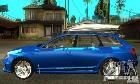 Audi RS6 Avant 2009 для GTA San Andreas вид слева