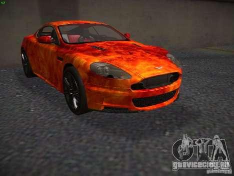 Aston Martin DBS для GTA San Andreas вид изнутри