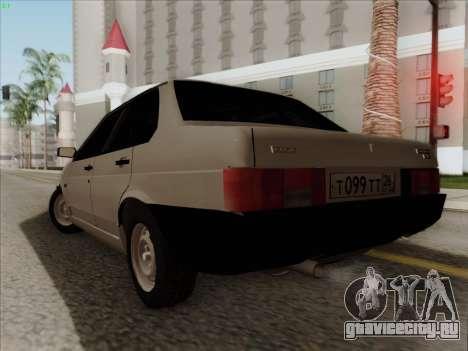 ВАЗ 21099 Сток для GTA San Andreas вид слева