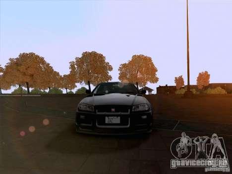 Nissan Skyline GTR R34 для GTA San Andreas вид сзади