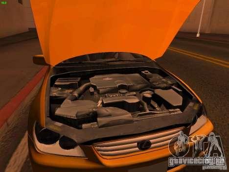 Lexus IS300 Taxi для GTA San Andreas вид изнутри