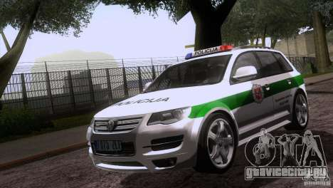 Volkswagen Touareg Policija для GTA San Andreas вид изнутри