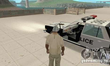 Dodge Diplomat 1985 Police для GTA San Andreas вид сзади