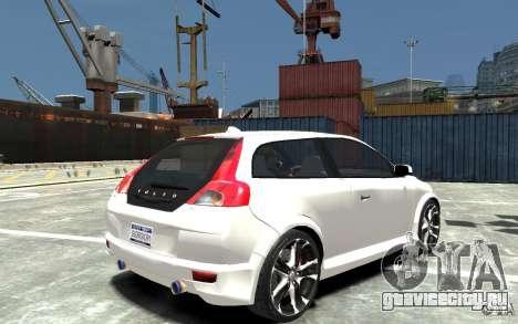 Volvo C30 T5 R-Design 2009 для GTA 4 вид справа