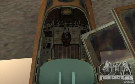 СУ-25 для GTA San Andreas вид сзади