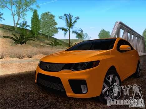 Kia Forte Koup SX для GTA San Andreas вид сзади слева