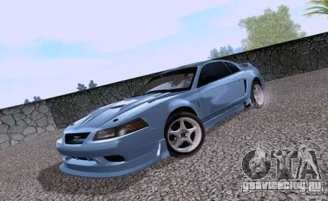 Ford Mustang SVT Cobra 2003 White wheels для GTA San Andreas