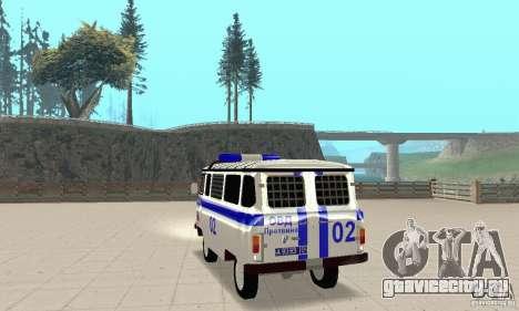 УАЗ Милиция для GTA San Andreas вид сзади слева
