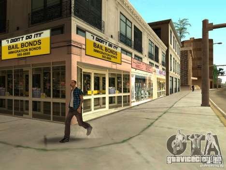Новые текстуры центра Лос-Сантоса для GTA San Andreas седьмой скриншот