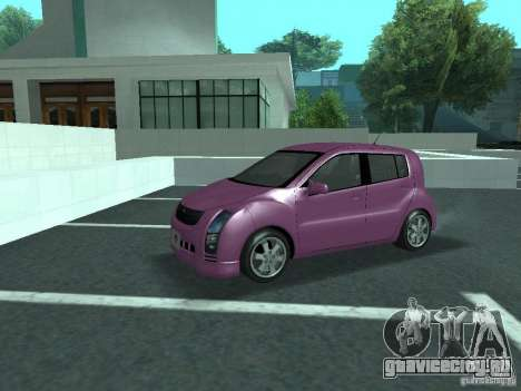 Toyota WiLL Cypha для GTA San Andreas вид изнутри