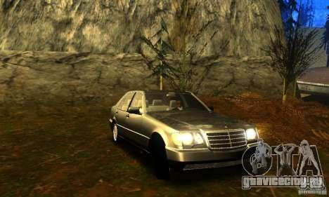 Mercedes-Benz 600SEL v2.0 для GTA San Andreas вид сзади слева