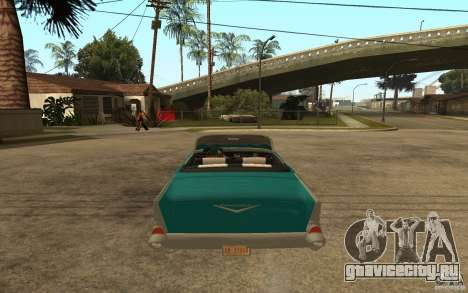 Chevrolet Bel Air 1956 Convertible для GTA San Andreas вид сзади слева