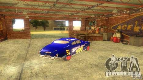 Hornet 51 для GTA San Andreas вид сзади слева