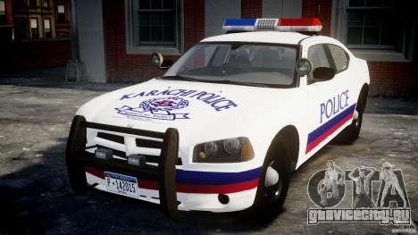 Dodge Charger Karachi City Police Dept Car [ELS] для GTA 4
