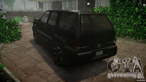 Cavalcade FBI car для GTA 4 вид сзади слева