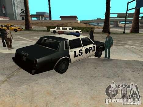 Tahoma Police для GTA San Andreas вид сзади слева