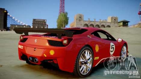 Ferrari 458 Challenge 2011 для GTA 4 вид сзади слева