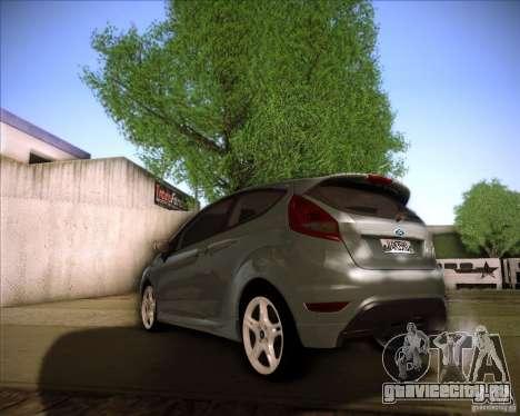 Ford Fiesta Zetec S 2010 для GTA San Andreas вид сзади слева
