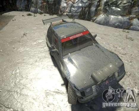 Mitsubishi Pajero Proto Dakar EK86 для GTA 4 вид изнутри