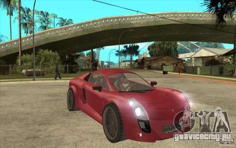 Mastretta MXT для GTA San Andreas вид сзади