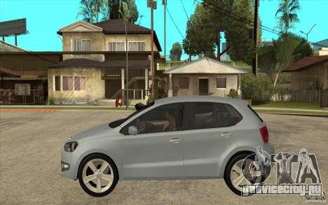 Volkswagen Polo 2011 для GTA San Andreas вид слева
