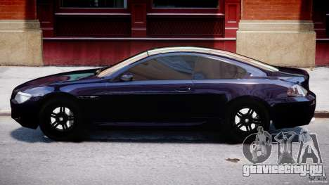 BMW M6 Orange-Black Bullet для GTA 4 вид сзади слева