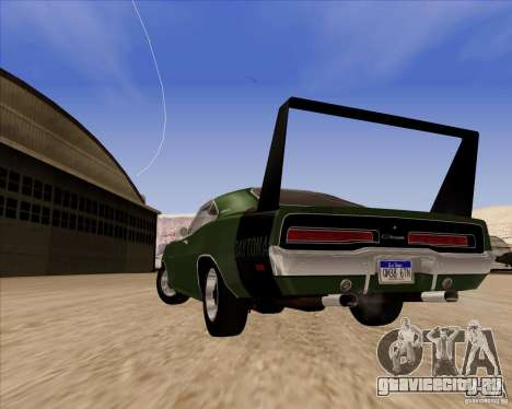 Dodge Charger Daytona 1969 для GTA San Andreas вид сзади