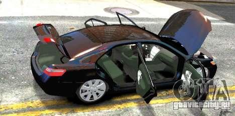 Toyota Camry V6 3.5 2007 для GTA 4 вид сзади