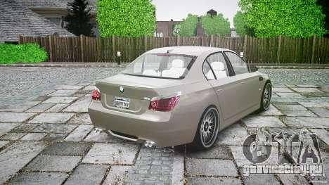 BMW E60 M5 2006 для GTA 4 вид сверху
