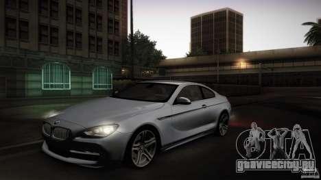 BMW 640i Coupe для GTA San Andreas вид изнутри