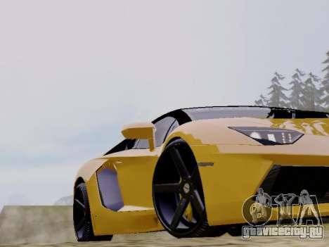 Lamborghini Aventador LP700-4 Vossen для GTA San Andreas вид сзади