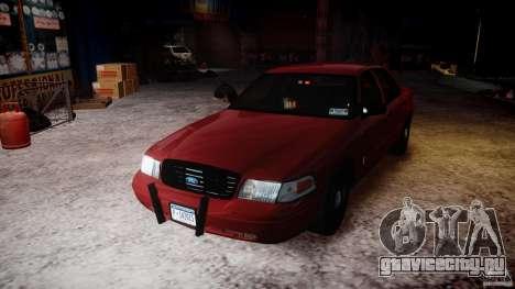 Ford Crown Victoria Detective v4.7 red lights для GTA 4 вид сверху