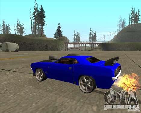 Plymouth Hemi Cuda из NFS Carbon для GTA San Andreas вид сзади слева