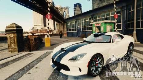 Dodge Viper GTS 2013 для GTA 4 вид слева