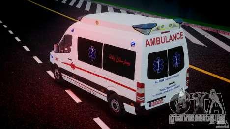 Mercedes-Benz Sprinter Iranian Ambulance [ELS] для GTA 4 двигатель