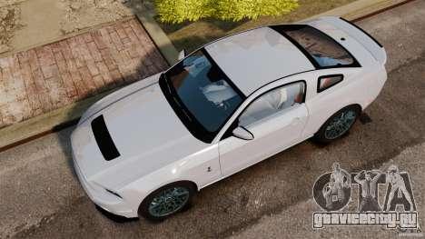 Ford Shelby GT500 2013 для GTA 4 вид справа