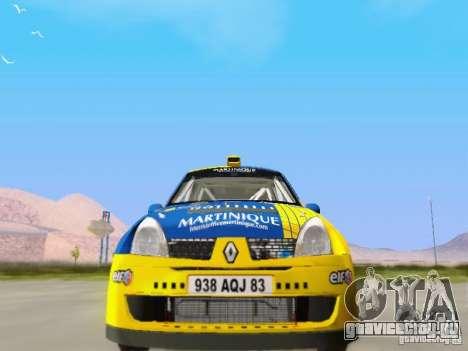Renault Clio Super 1600 для GTA San Andreas вид сзади
