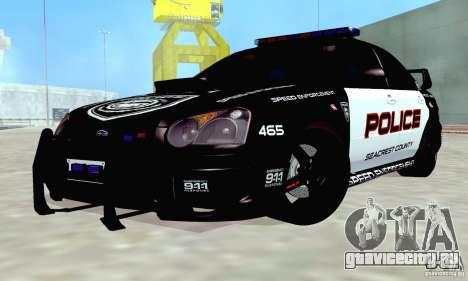 Subaru Impreza WRX STI Police Speed Enforcement для GTA San Andreas вид сбоку