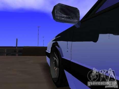 Willard Drift Style для GTA San Andreas вид изнутри