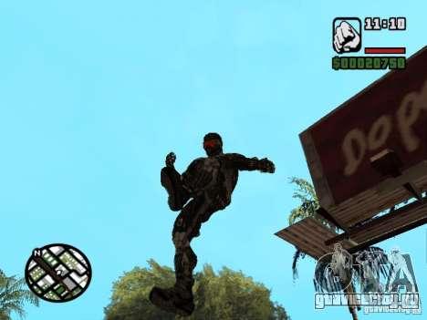 Crysis Nano Suit для GTA San Andreas седьмой скриншот