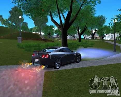 Nissan GTR R35 для GTA San Andreas вид слева