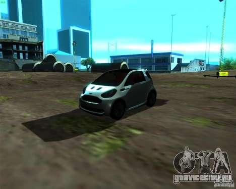 Aston Martin Cygnet для GTA San Andreas вид слева