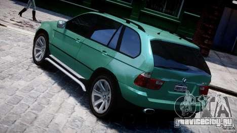 BMW X5 E53 v1.3 для GTA 4 вид сзади слева
