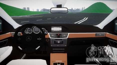 Mercedes-Benz E63 2010 AMG v.1.0 для GTA 4 вид сзади