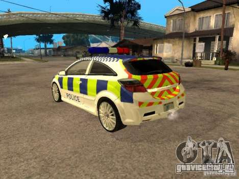 Opel Astra 2007 Police для GTA San Andreas вид слева