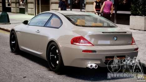 BMW M6 G-Power Hurricane для GTA 4 вид справа